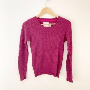 H&M marron/purple knit sweater S